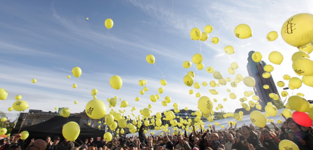 The 50th birthday of Amnesty International.